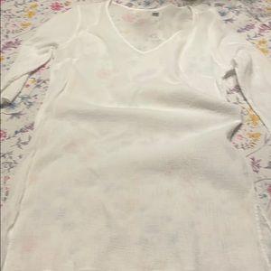 Old Navy white sheer top, medium